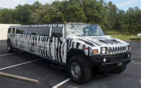 zebra hummer limousine rental save     hummers