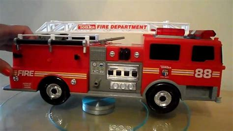 tonka fire truck 88 small tonka toys fire engine with lights and sounds youtube