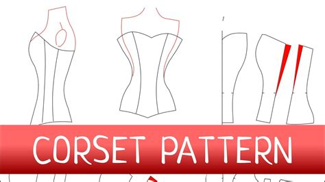 bodice pattern making youtube corset pattern how to make a corset free pattern youtube