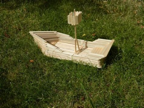 how to make paper house boat how to make a popsicle stick boat snapguide