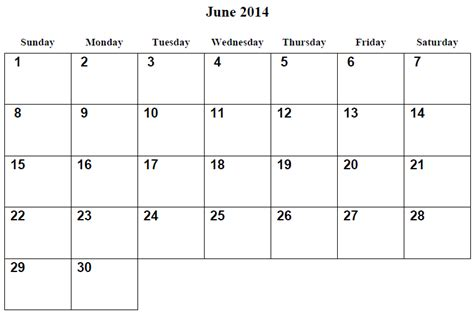 June 2014 Calendar Template by June 2014 Calendar Printable 3 Printable Calendar 2014