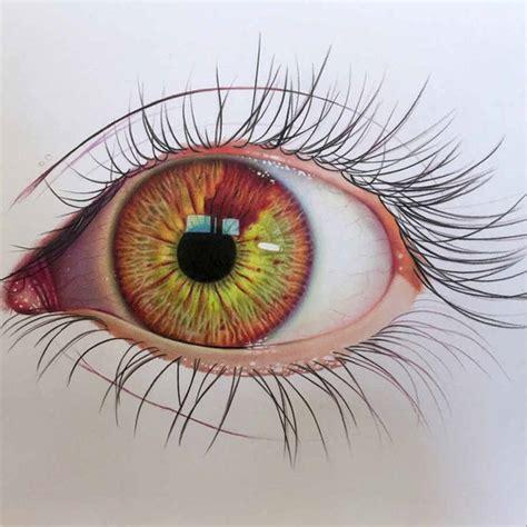 imagenes de ojos realistas para dibujar dibujo de un ojo realista hecho con acuarelas