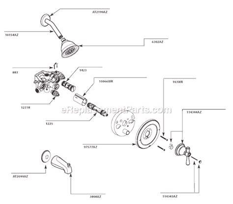Moen Shower Replacement Parts by Moen T3113az Parts List And Diagram Ereplacementparts