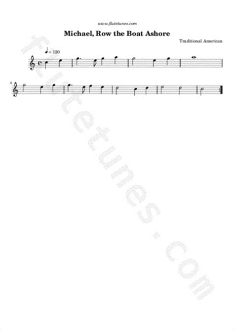 row row row your boat backing track michael row the boat ashore trad american free flute