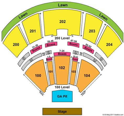 bbt center seating chart camden country megaticket bb t pavilion tickets country