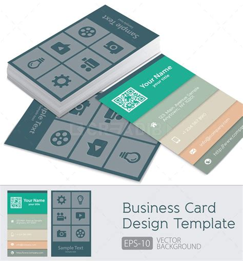 business card layout template vector for free use set of