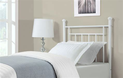 dorel white metal headboard