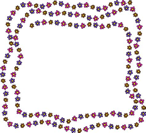 free doodle border vector free vector graphic floral border frame copyspace