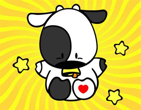 imagenes de amor animadas de vacas dibujo de vaca peque 241 a pintado por amor8020 en dibujos net