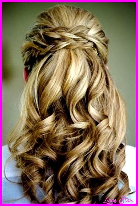 hairstyles half up half down how to bridal hairstyles half up half down livesstar com