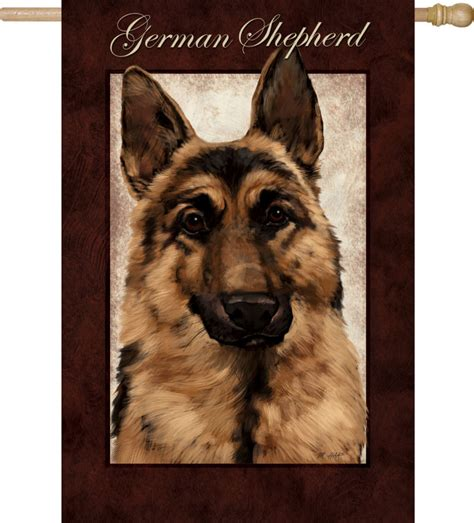 are german shepherds good house dogs german shepherd dog house garden flag decorative 12 5 quot x 18 quot