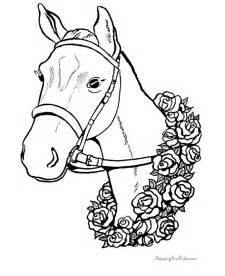 Free printable animal coloring pages horse