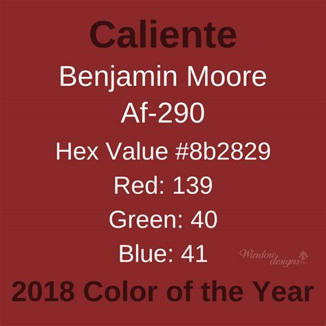 benjamin color of the year benjamin caliente af290 2018 color of the year