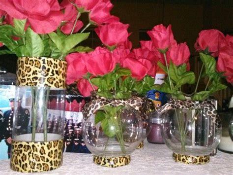 leopard centerpiece ideas leopard print centerpieces ez to make dollar store