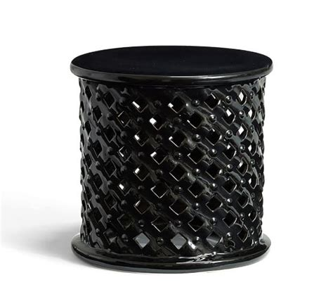 ceramic accent table bamileke ceramic accent table pottery barn
