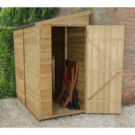 Wall Shed by Forest Garden Overlap Pent Garden Wall Shed At Wilko