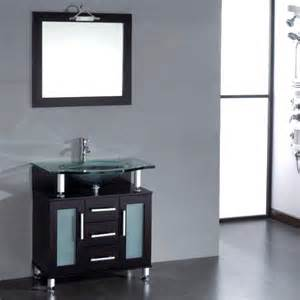 cambridge 32 inch glass single basin sink vanity set