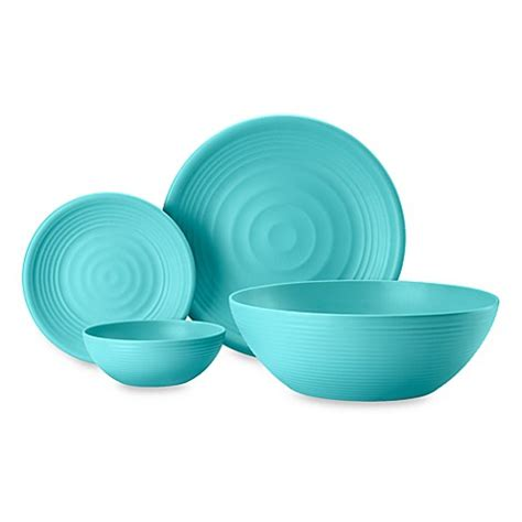 turquoise melamine dinnerware bed bath beyond