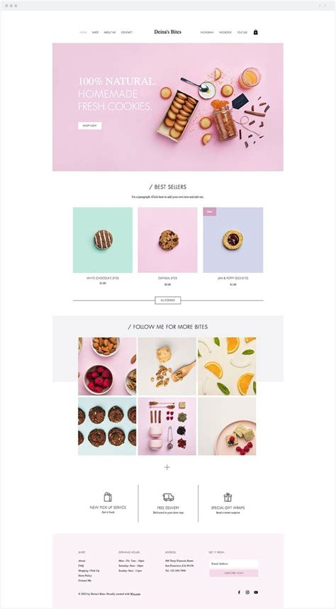680 Best Wix Website Templates Images On Pinterest Cookie Website Template