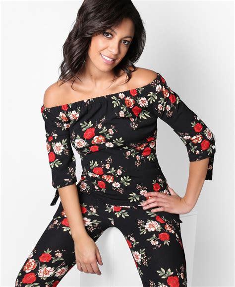 Shoulder Floral Print Top tops floral print shoulder top krisp