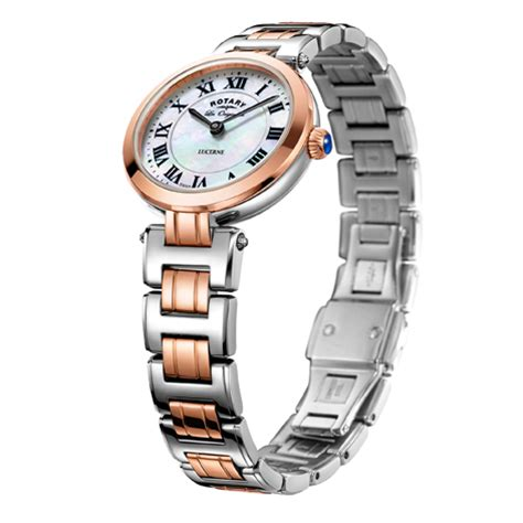 Rotary Lb02228 41 Rosegold Silver rotary lucerne two tone swiss lb90187