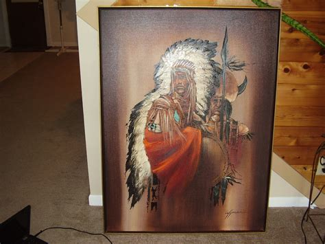 Furniture Dining Room wyman oil of indian chief and medicine man