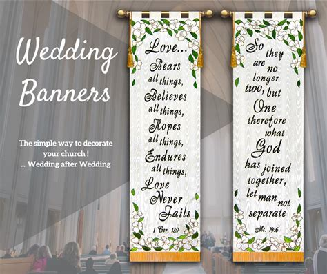 Wedding Banner For by Church Wedding Banners