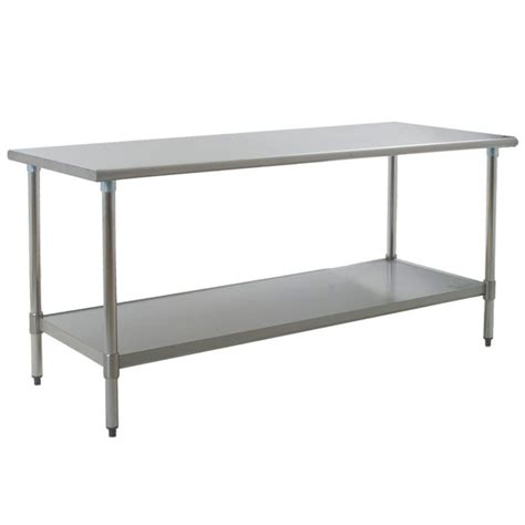 Stainless Steel Tables by Eagle T3072sem 30 Quot X 72 Quot Stainless Steel Work Table