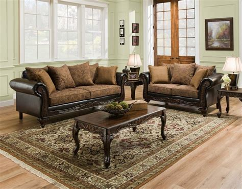 Wood Living Room Set by San Marino Traditional Living Room Set W Wood Trim