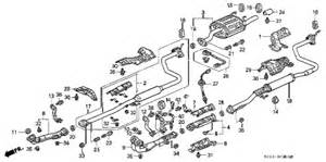 1999 Honda Civic Exhaust System Diagram Honda Store 1999 Civic Exhaust Pipe Parts