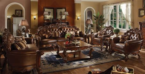 Sofa Chesterfield Jepara vendome oversized formal sofa loveseat set in brown cherry faux leather