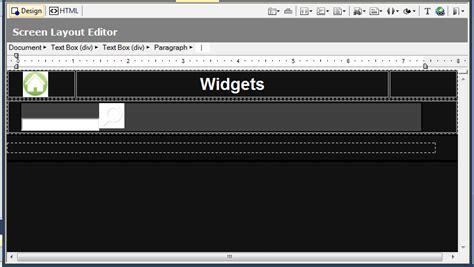 screen layout editor beyond the bleeding edge hyper word services technology