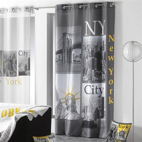 Rideau New York by Rideau Quot New York Yellow Quot 140x260cm Anthracite