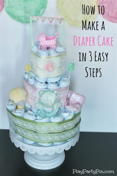 Instructions On How To Make A Diaper Cake For Baby Shower
