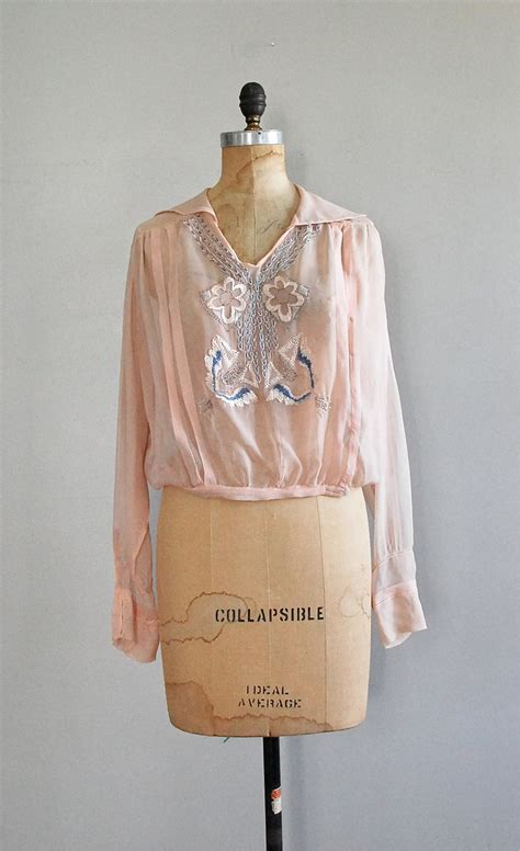 Blue Sailor Wide Collar Blouse 1000 images about 1920 s tops and blouses on