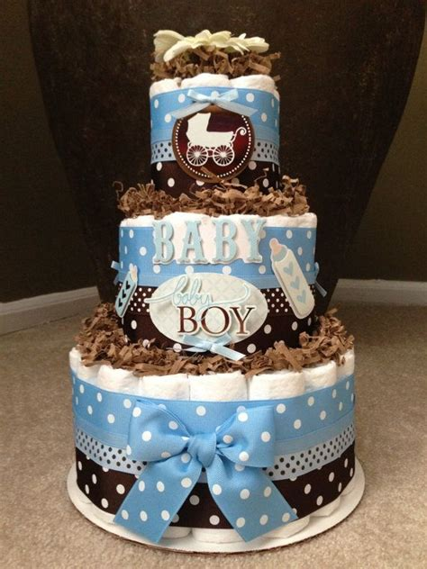 Brown And Blue Baby Shower Decorations by Blue And Brown Boy Cake For Baby Shower Decoration