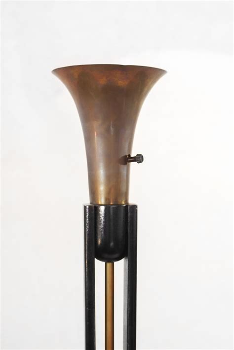 art deco torchiere floor lamp modernism