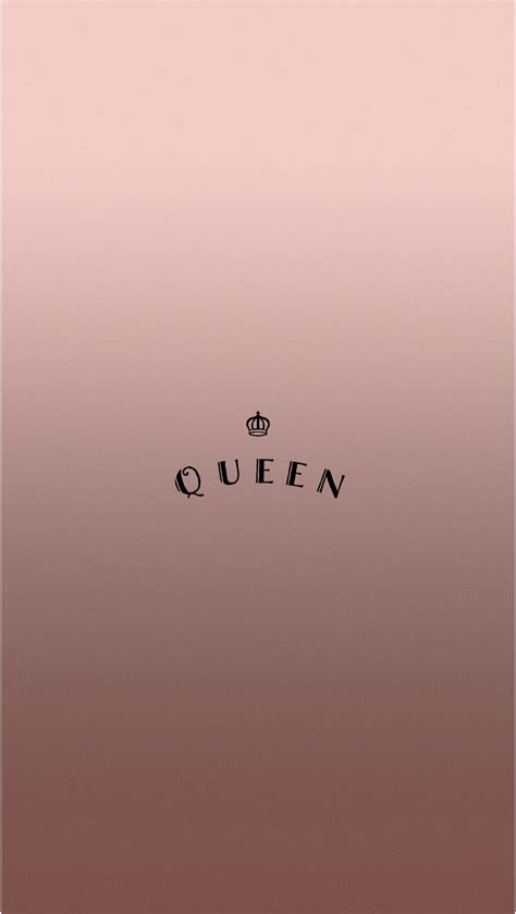 rose gold queen iphone wallpaper  atevaland love