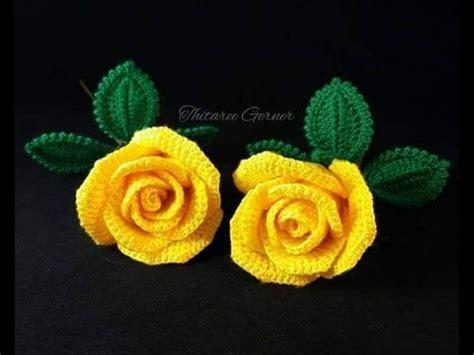 imagenes de flores tejidas a gancho flores tejidas a crochet sencillas youtube