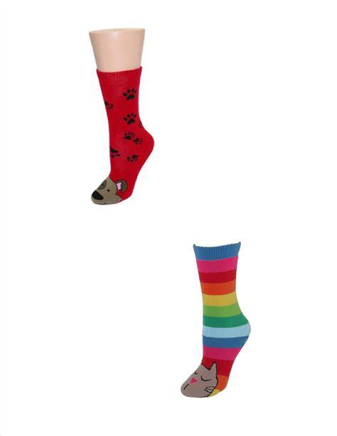 cat sock slippers womens animal lover cat and tubular slipper sock by k