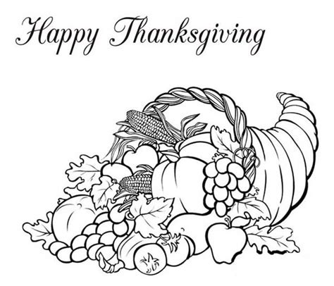 Thanksgiving Basket Coloring Page   thanksgiving basket coloring pages happy easter