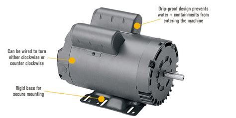 Electric Compressor Motor by Leeson Air Compressor Electric Motor 5 Hp Model 116511