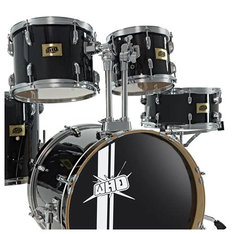 swing drummers whd birch 5 piece swing drum kit black at gear4music com