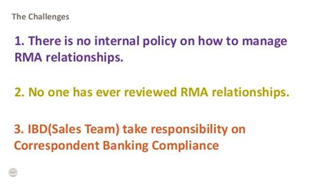 bank compliance correspondant banking compliance and financial crime