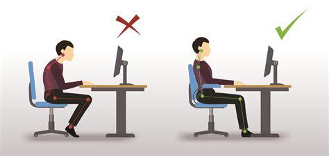 position assise bureau comment adopter une bonne position assise devant