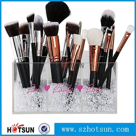 Acrylic Brush Akrilik Tempat Make Up acrylic clear cosmetic organizer cheap make up brush holder