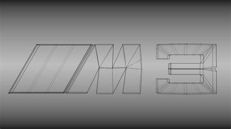 logo bmw m3 bmw m3 logo 3d model obj blend cgtrader com