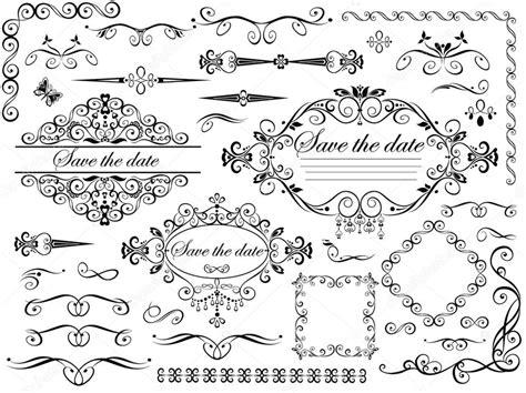 wedding design elements vector vintage wedding design elements stock vector