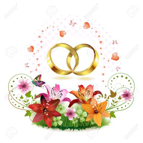 Wedding Borders With Rings by Ring Clipart Wedding Flower 3857205