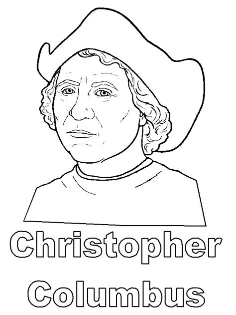 Christopher Columbus Coloring Pages Printable yahoo